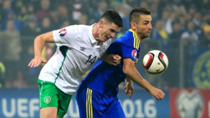claran clark vedad ibisevic - bosnia ireland - euro 2016 playoff - 13112015