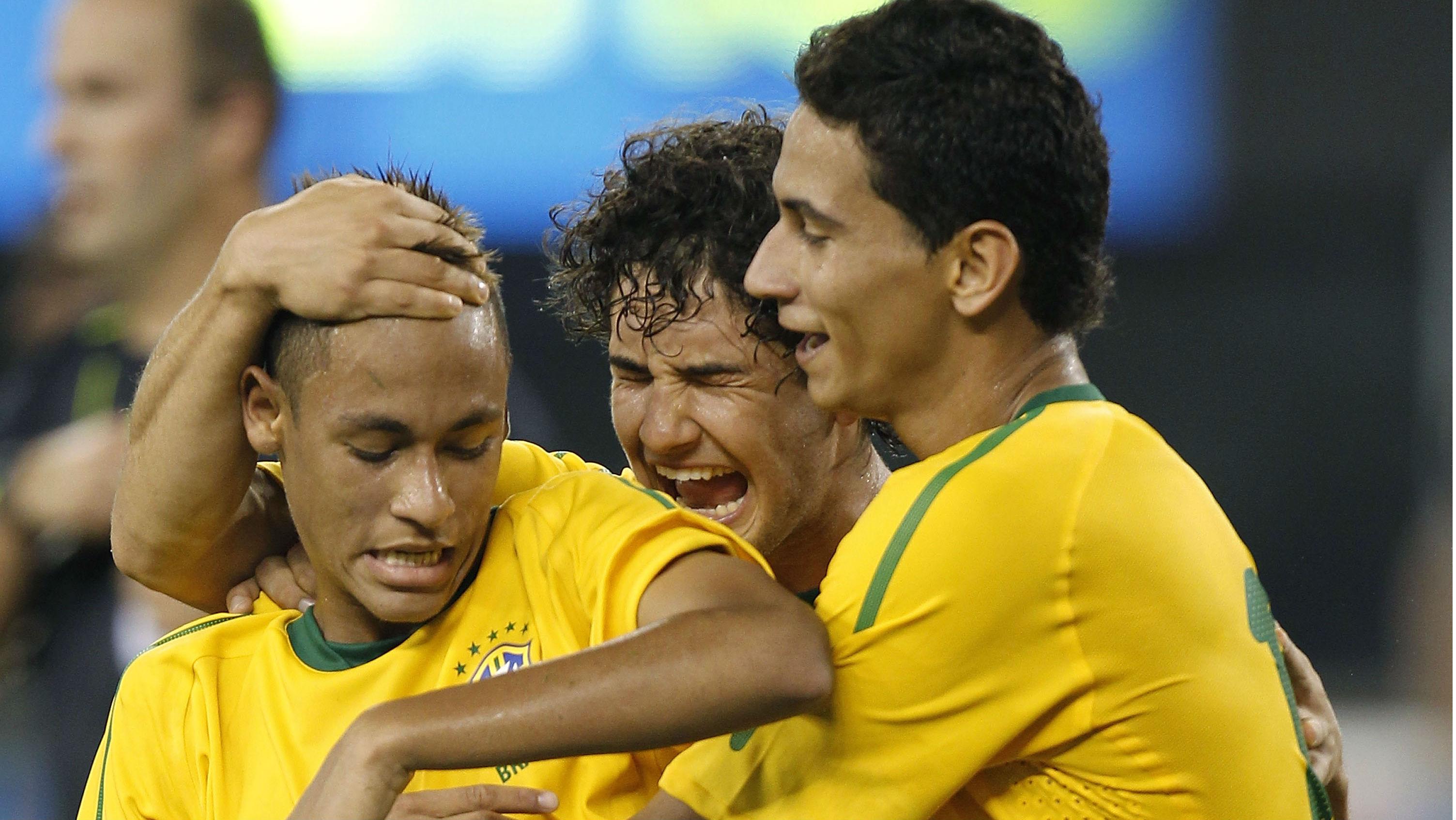 Neymar Pato Ganso Brazil 07092015