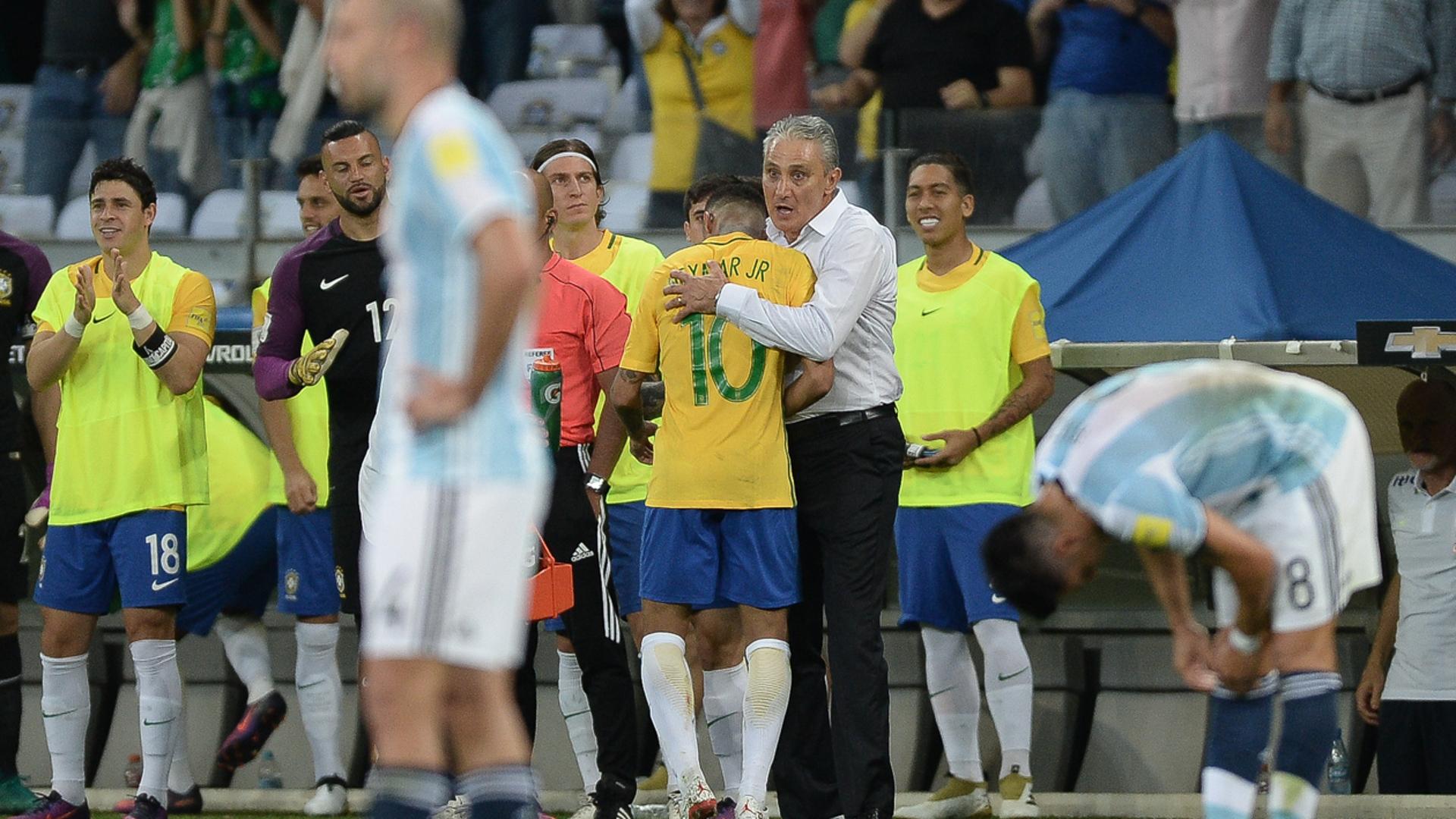 Neymar Tite Brasil Argentina Eliminatorias 2018 10112016