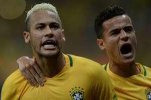 Neymar e Coutinho Brasil Colômbia