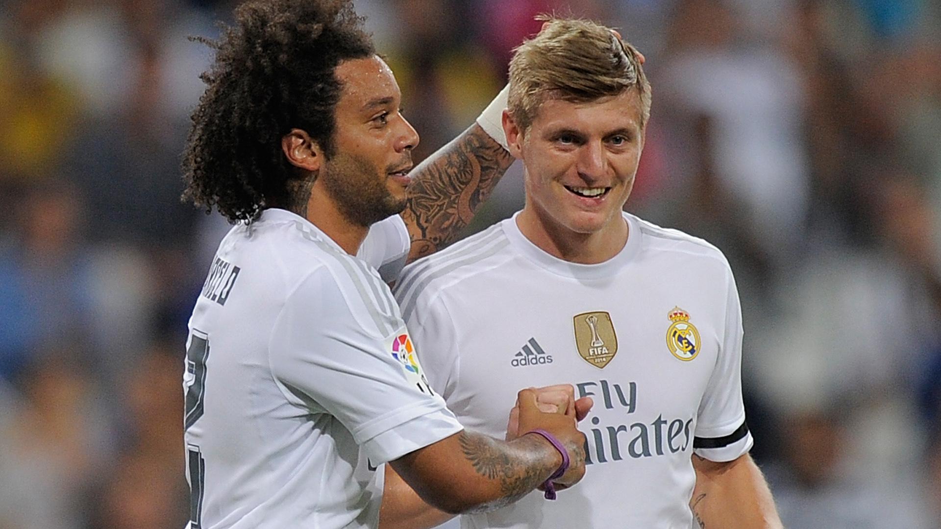 Marcelo e Kroos Real Madrid x Galatasaray 18 08 15