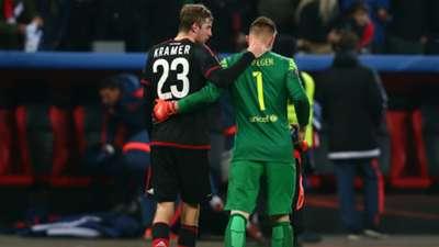 Christian Kramer, Marc-André Ter Stegen   Bayer Leverkusen x Barcelona   09/12/2015