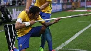 Neymar brincadeira Brasil Paraguai Eliminatorias 2018 28032017