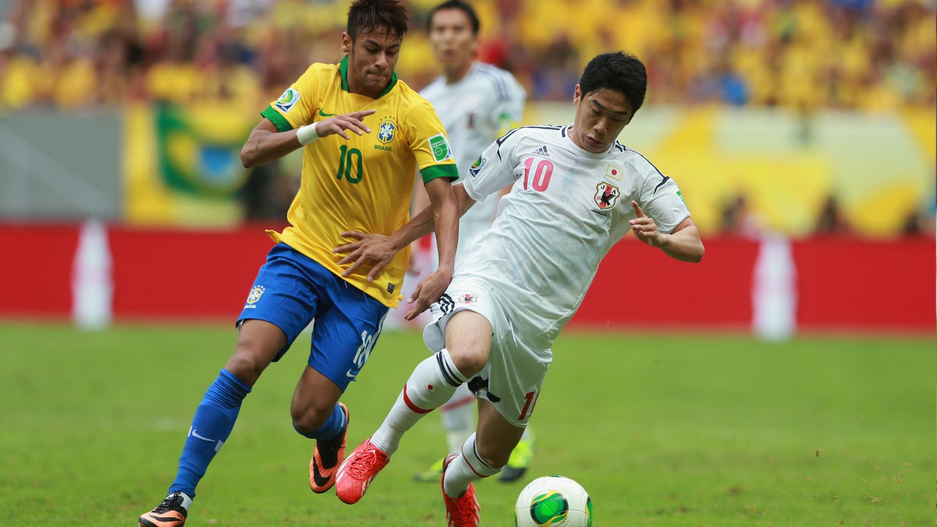Neymar e Kagawa Brasil 3x0 Japão Copa das Confederações 15 06 2013