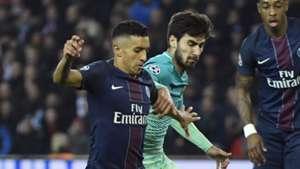 Andre Gomes Marquinhos PSG Barcelona Champions League R16 02142017