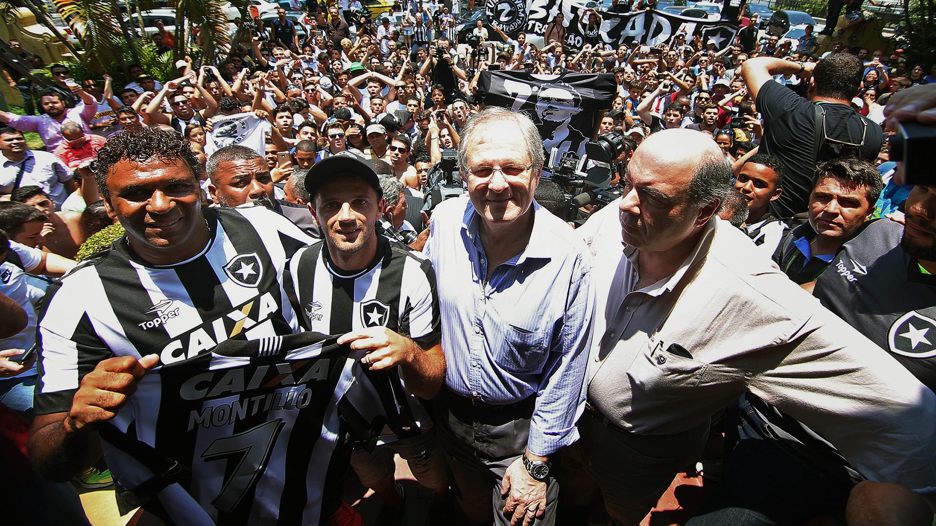 Montillo Botafogo apresentação torcida 11012017