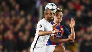 Ivan Rakitic and Lucas Moura Barcelona x PSG 08032017