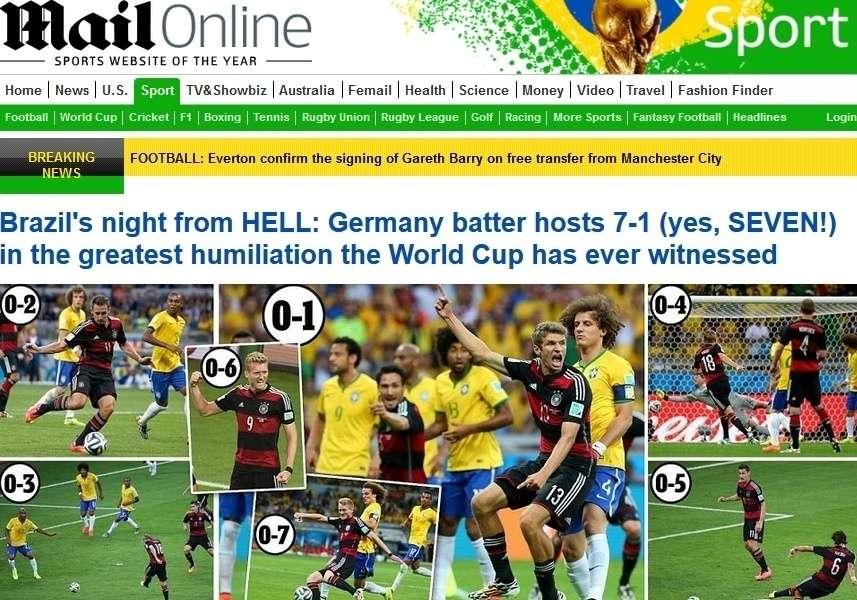 Capas 7 a 1 Daily Mail Digital Inglaterra