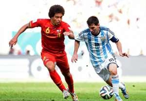 Lionel Messi Argentina Alex Witsel Belgium 2014 World Cup quarter-finals 07052014
