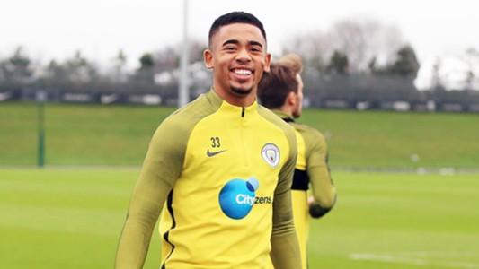 Gabriel Jesus Manchester City training 19012017
