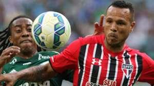 Luis Fabiano e Arouca - Palmeiras x São Paulo