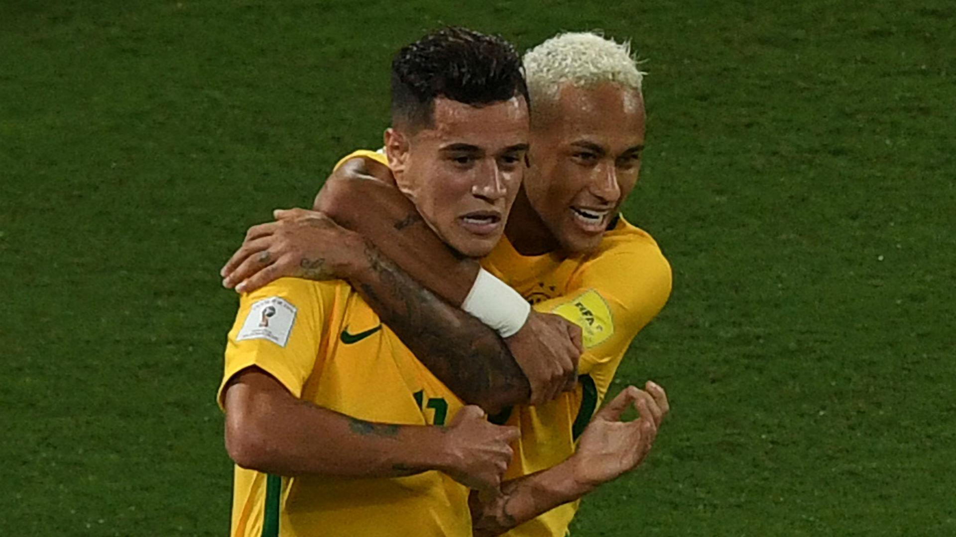 Coutinho Neymar Brasil vs Bolivia Eliminatórias 2018 07 10 2016