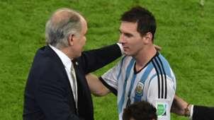 Alejandro Sabella and Lionel Messi - World Cup 2014