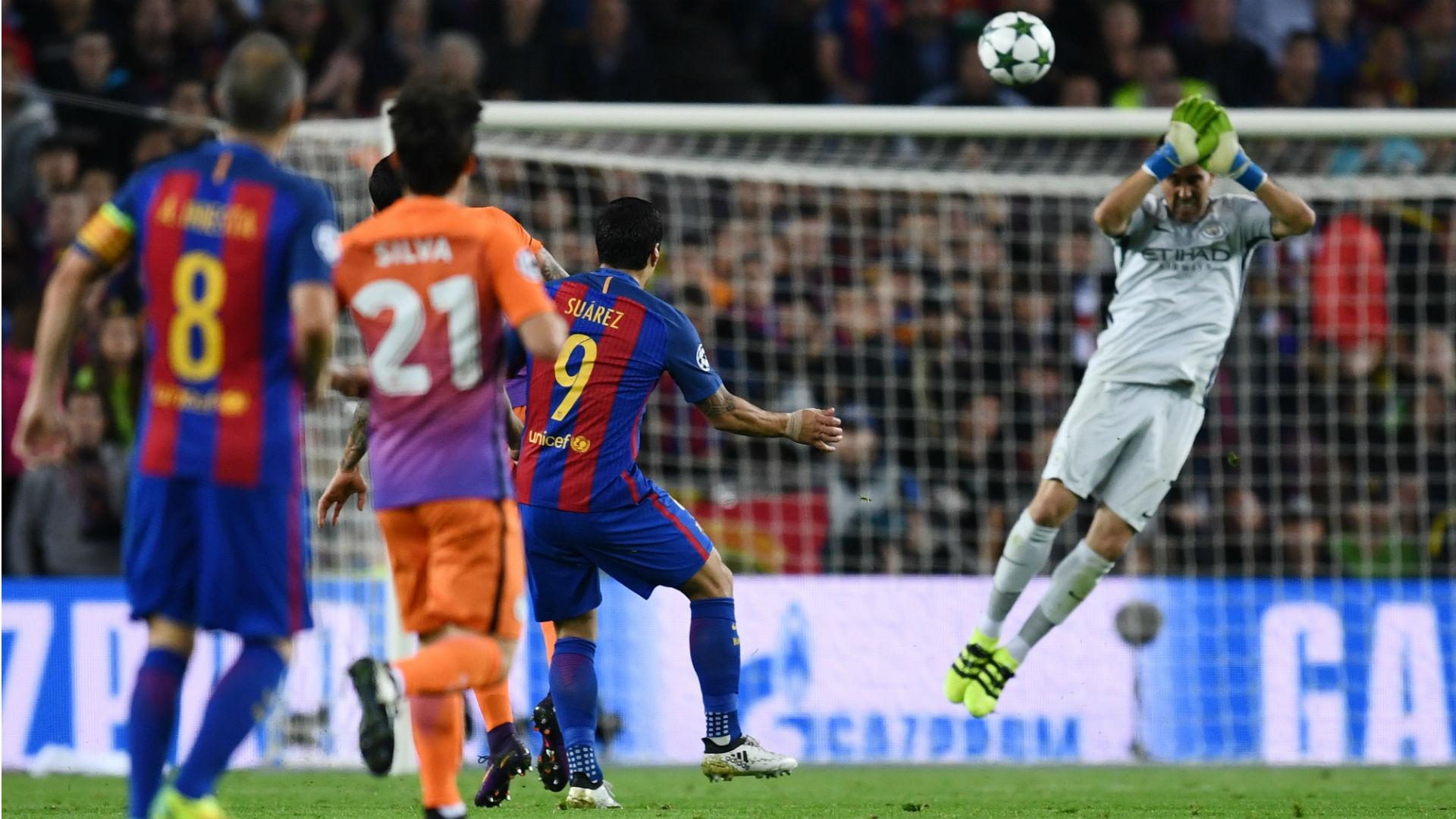 Suárez Claudio Bravo Barcelona Manchester City Champions League 19 10 2016