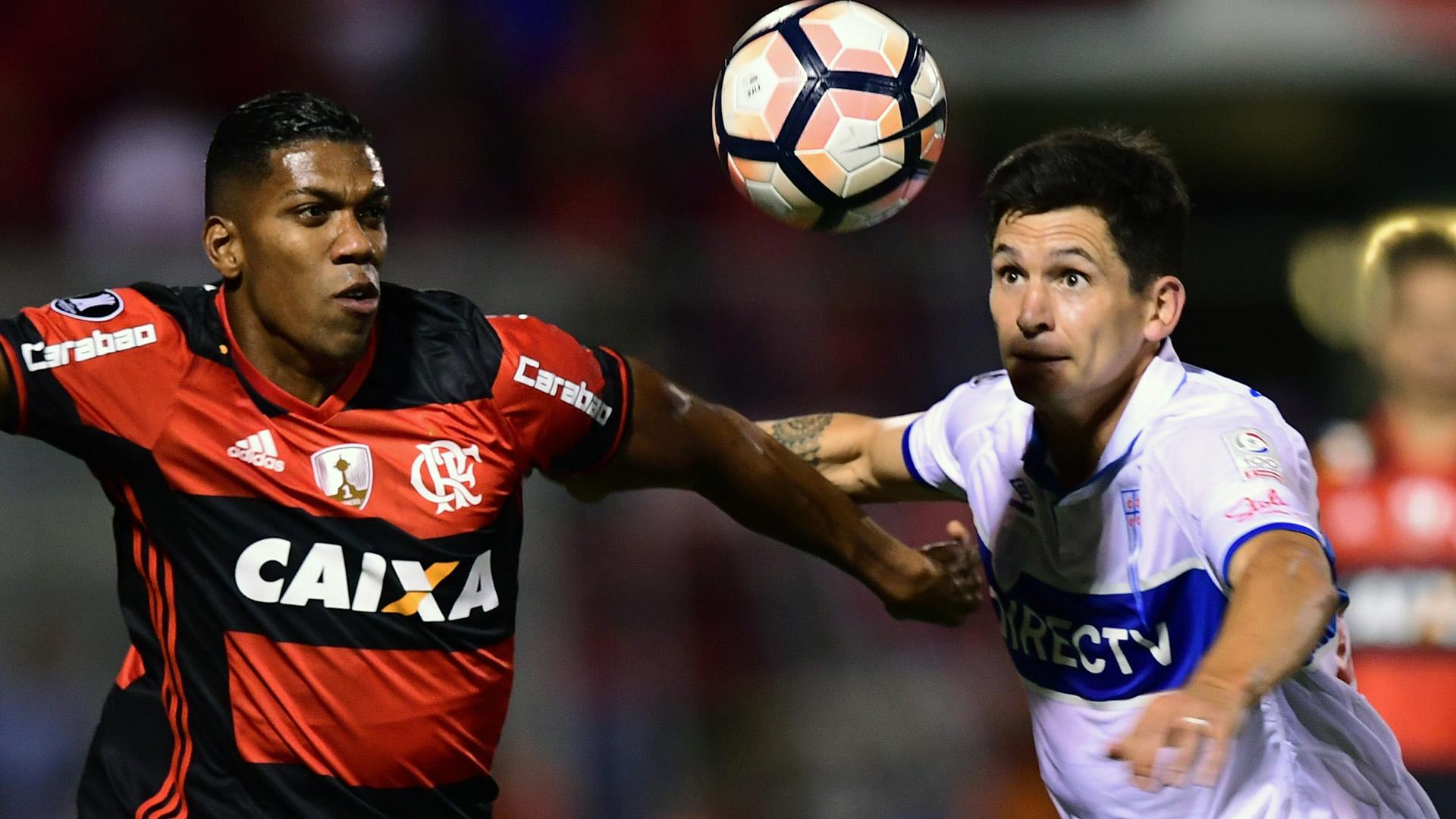 Orlando Berrio German Lanaro Universidad Catolica Flamengo Copa Libertadores 15032017