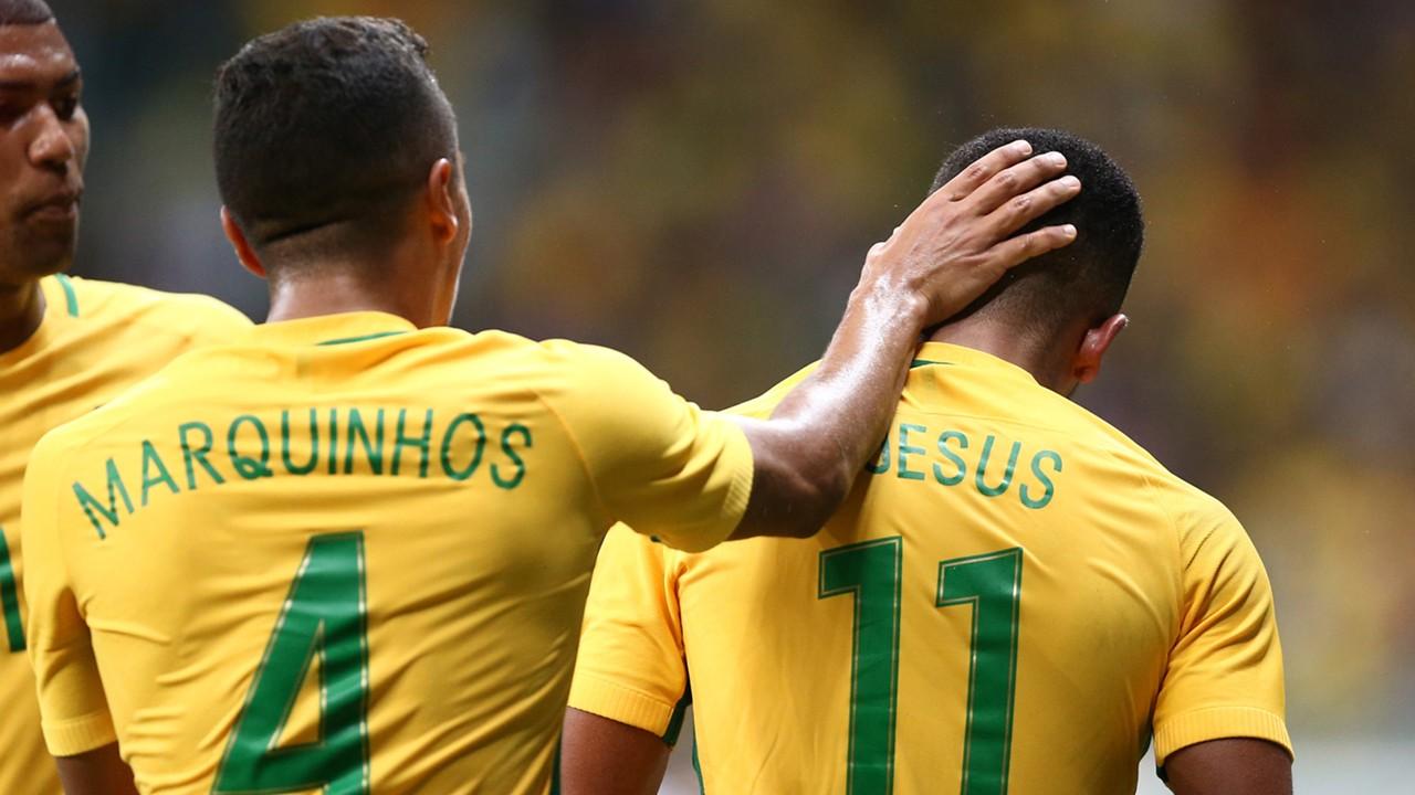 Marquinhos Gabriel Jesus Denmark Brazil Rio 2016 Olympics 10082016