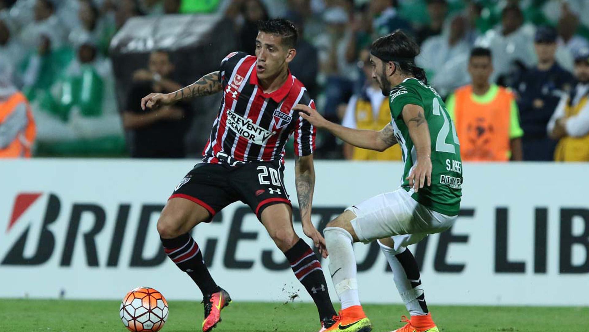 Ricardo Centurión Sebastian Perez Atletico Nacional São Paulo Copa Libertadores 13072016