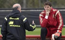 Iker Casillas and Vicente Del Bosque - 2014