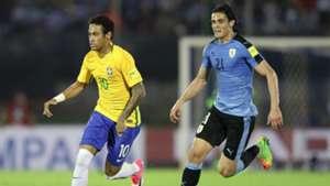 Neymar Edinson Cavani Uruguai Brasil Eliminatorias 2018 23032017