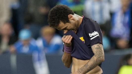 Neymar red Malaga Barcelona La Liga 08042017
