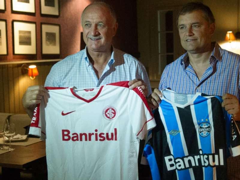 Aguirre e Felipão jantam juntos e pedem paz no clássico Gre-Nal