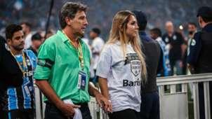 Renato e Carol Portaluppi Grêmio Atlético-MG Copa do Brasil 07122016