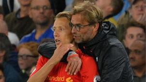 Lucas Leiva Jurgen Klopp Liverpool 08 10 2016