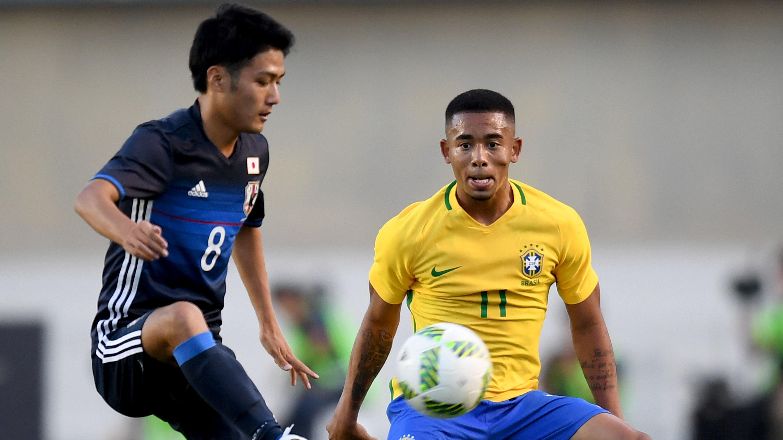 Ryota Oshima and Gabriel Jesus - Brazil vs Japan - 30072016
