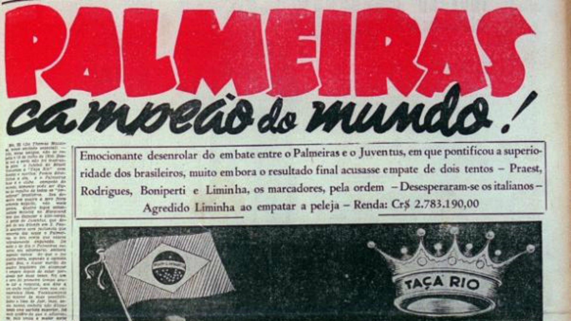 65 anos da Copa Rio de 1951  lembre 14 fatos e curiosidades do Mundial do  Palmeiras  2e2610554aeed