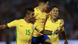 Coutinho Paulinho Firmino Uruguai Brasil Eliminatorias 2018 23032017