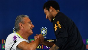 Neymar e Tite - Brasil 27/03/2017