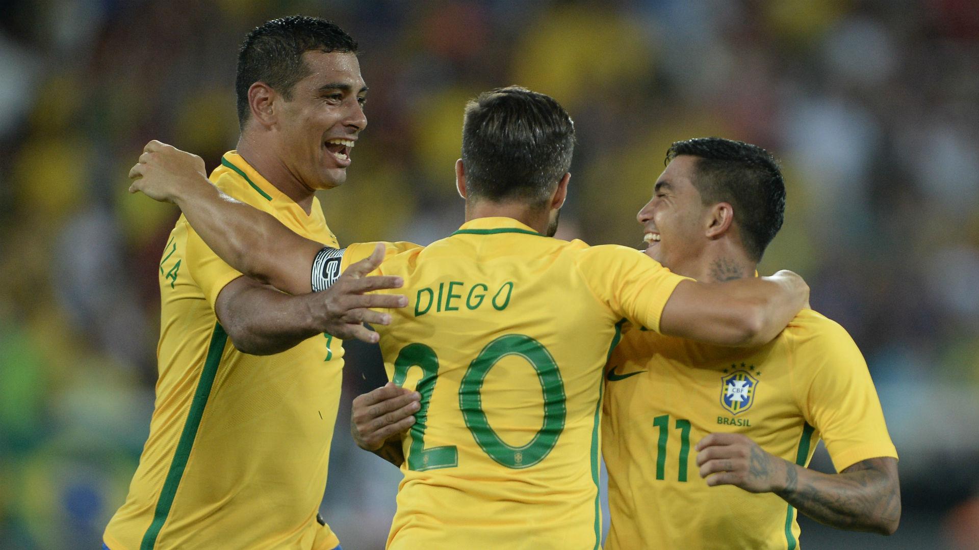 Diego Souza Diego Dudu Brasil Colombia  amistoso 25 012017