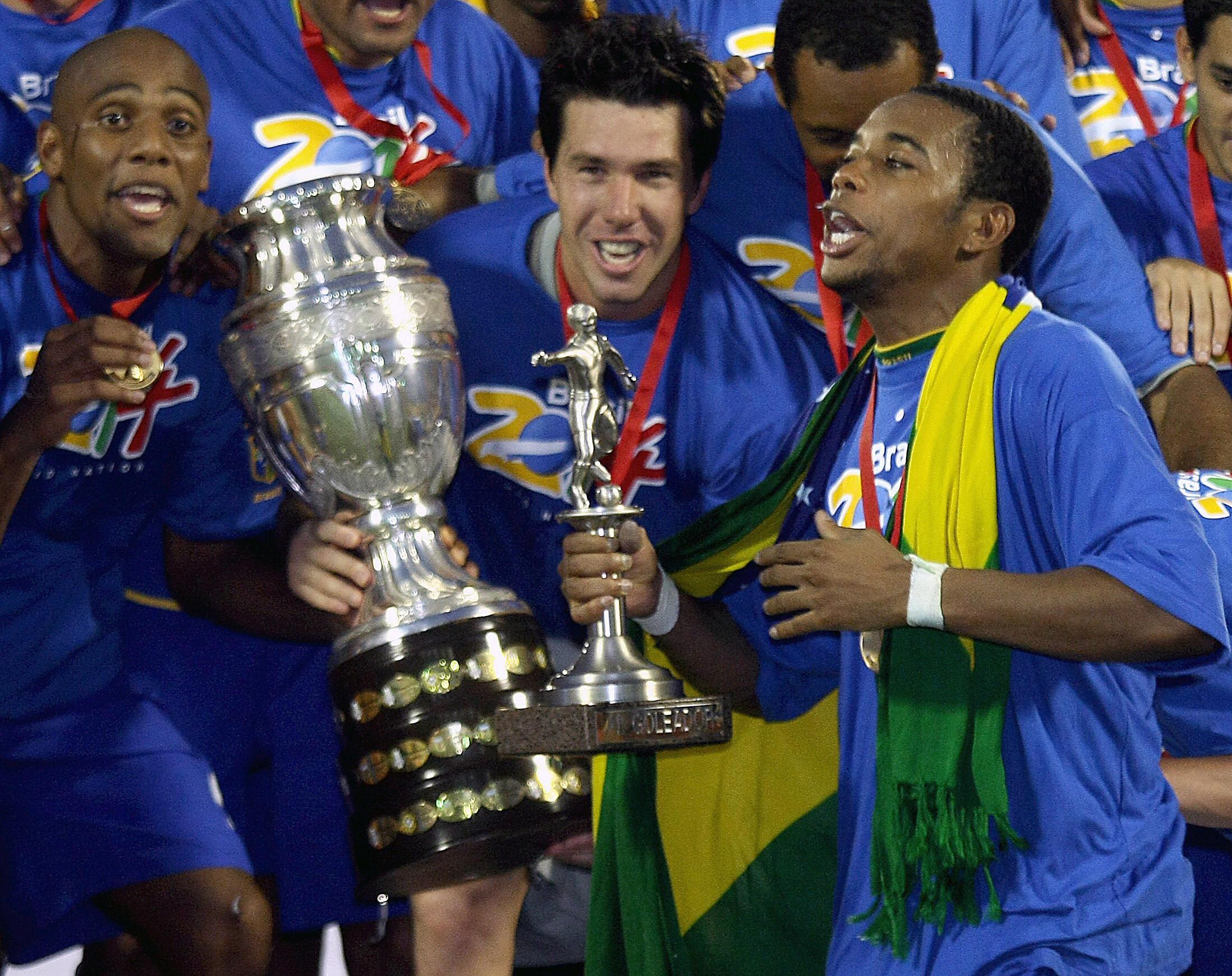 Robinho Brasil Campeão Copa América 2007