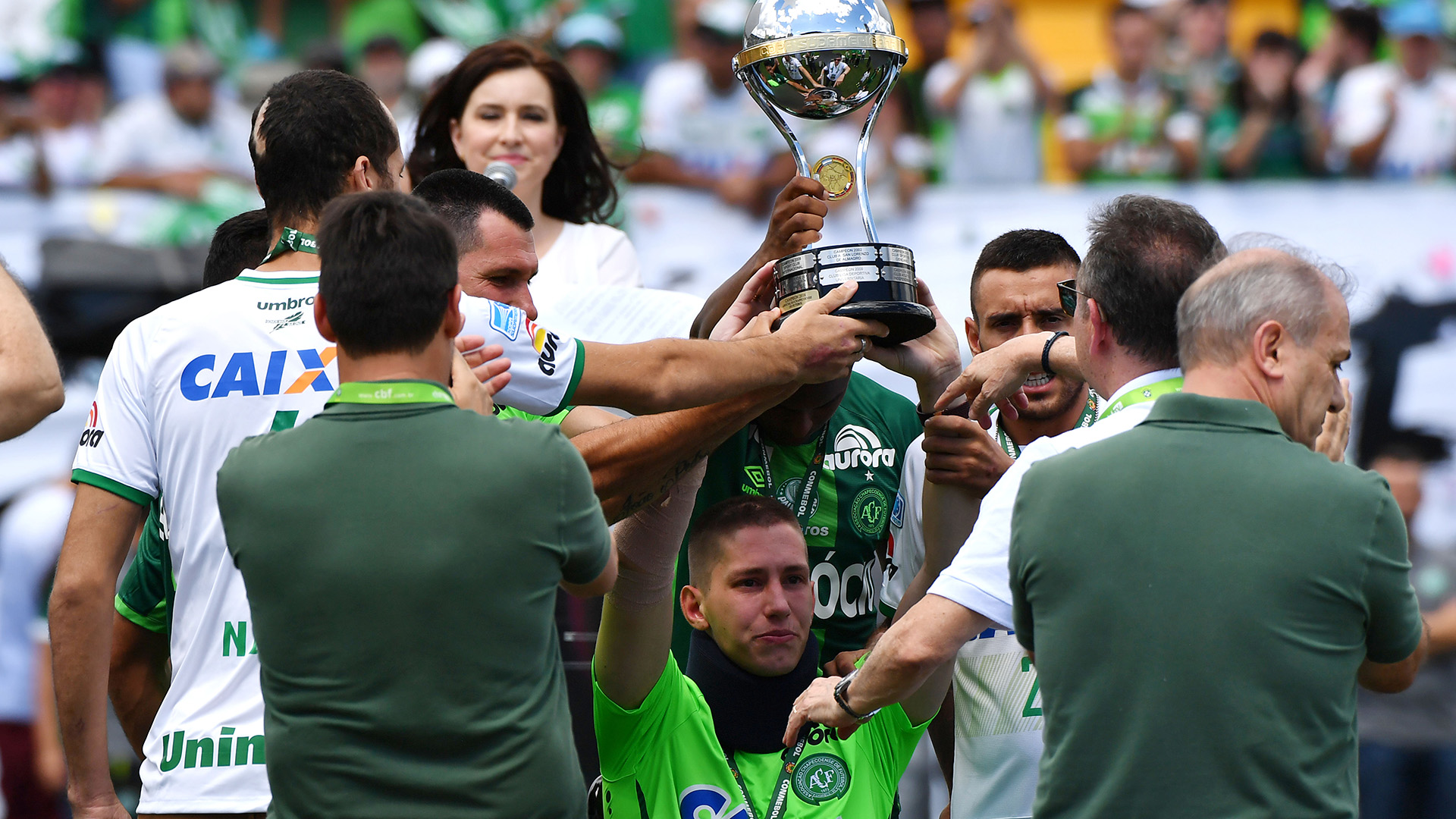 Follmann Copa Sudamericana trofeu Palmeiras Chapecoense Amistoso homenagem 21012017