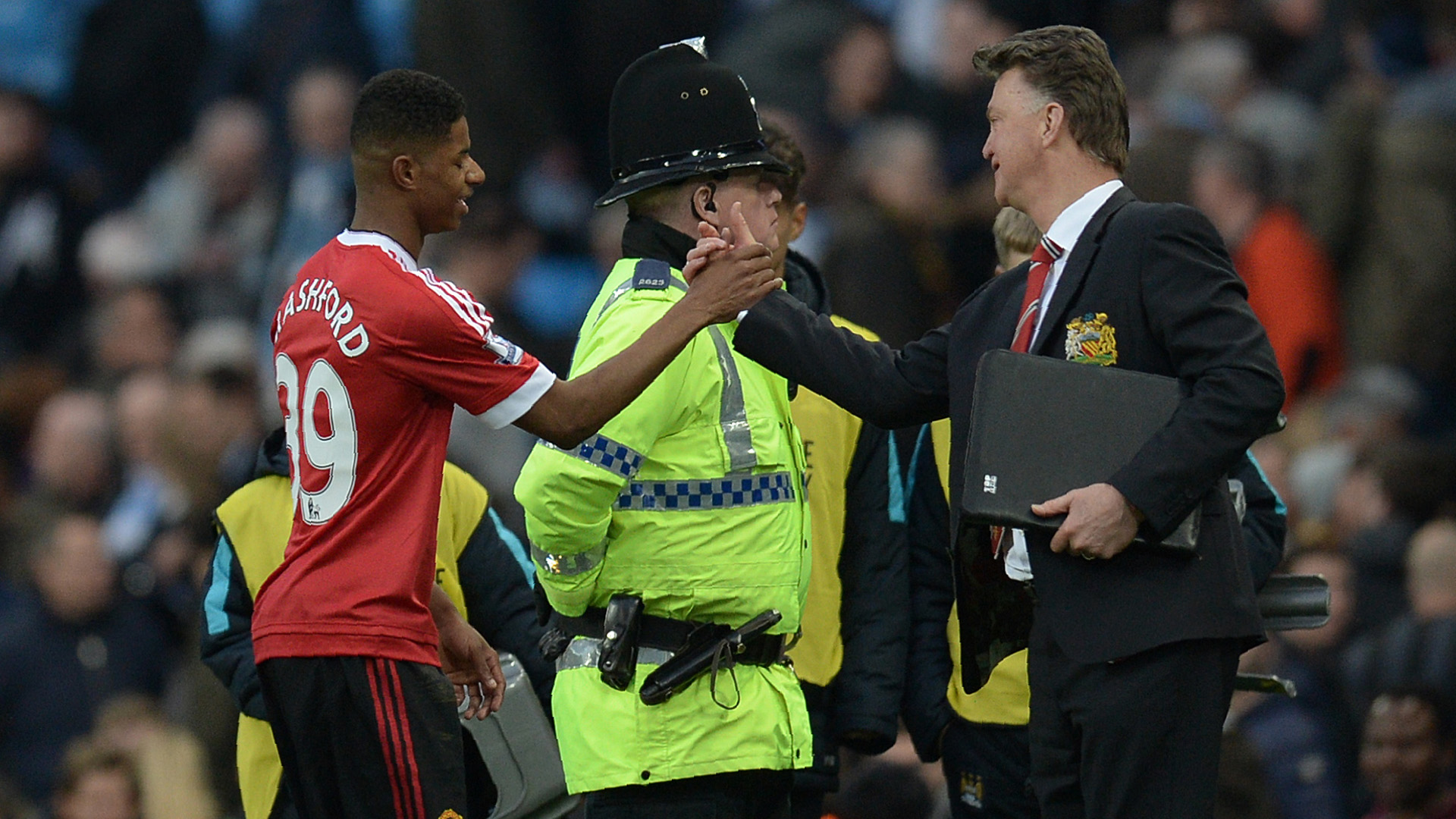 Marcus Rashford Louis van Gaal Manchester City Manchester United Premier League 03202016