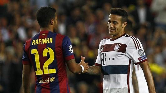 Thiago Alcântara Rafinha Barcelona Bayern 11052015