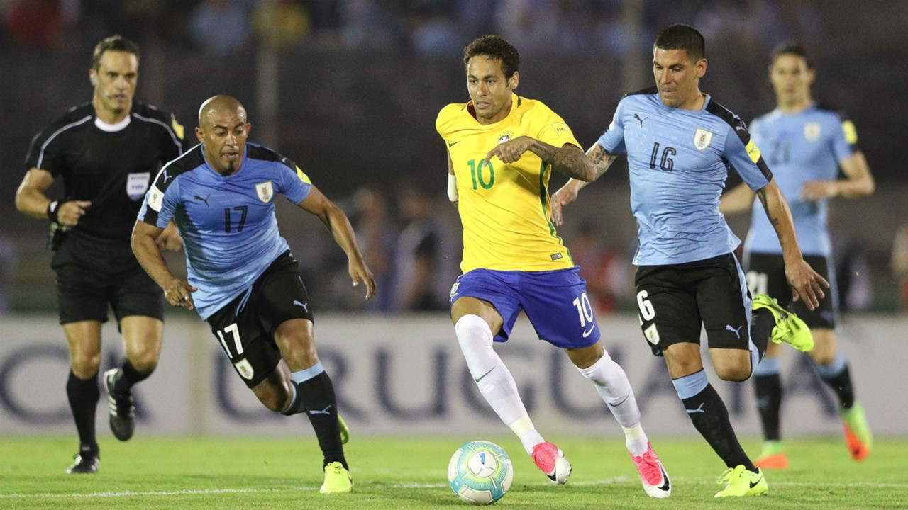 Neymar Brazil Uruguay World Cup Qualify 2018 23 03 2017