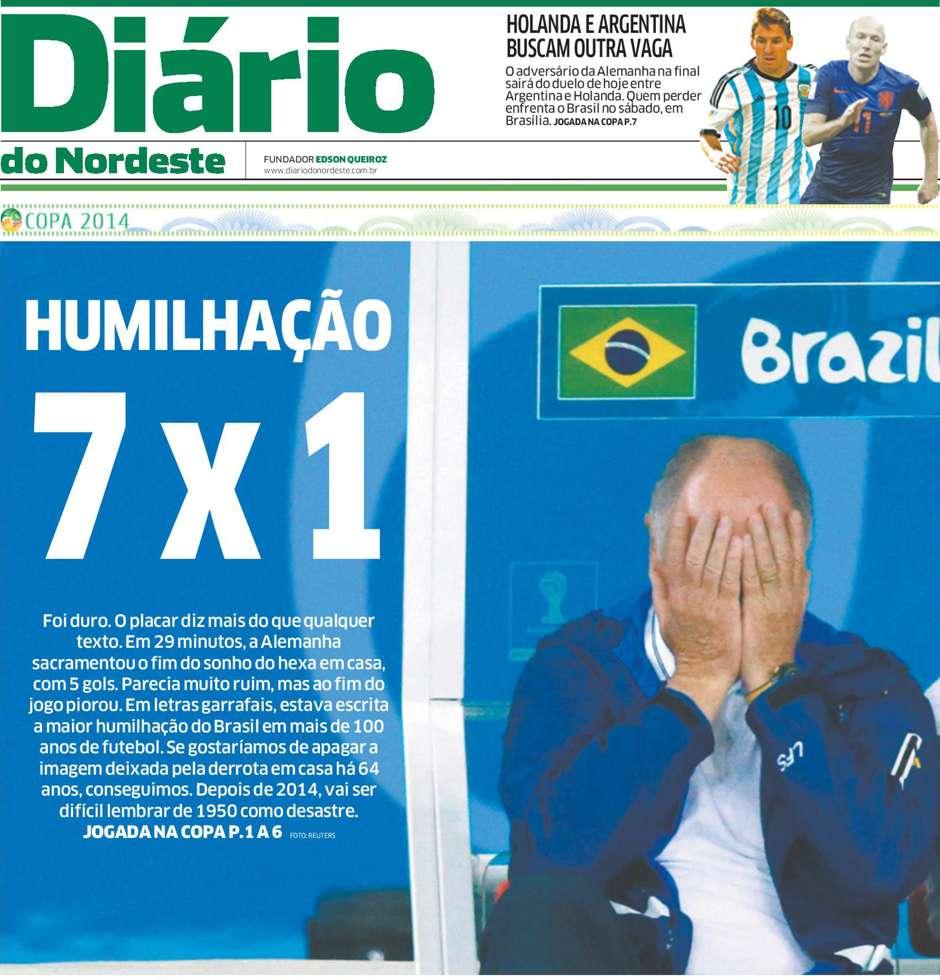 Capas 7 a 1 Diário do Nordeste Fortaleza CE