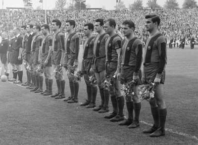 GALLERY ONLY Barcelona Champions League 1960/1961