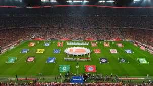 Allianz Arena Bayern Bundesliga teams flags 26082016