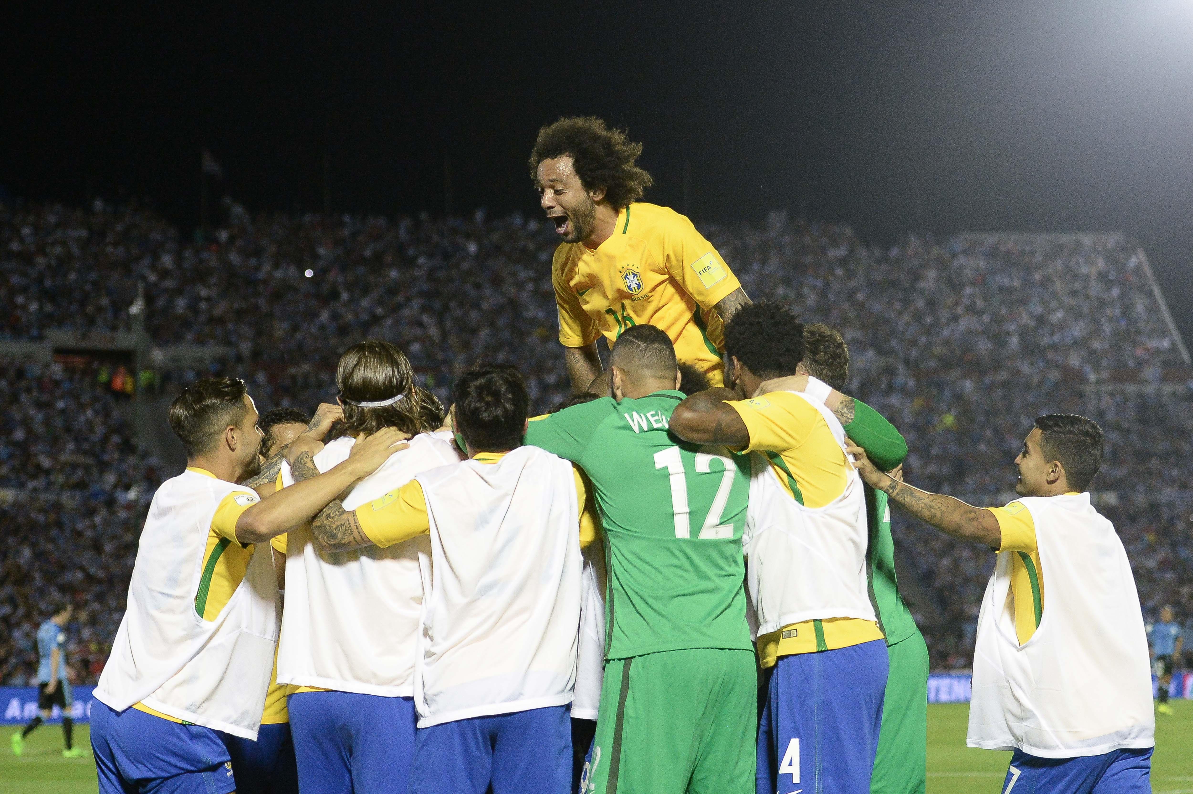 Comemoração Uruguai x Brasil 23032017