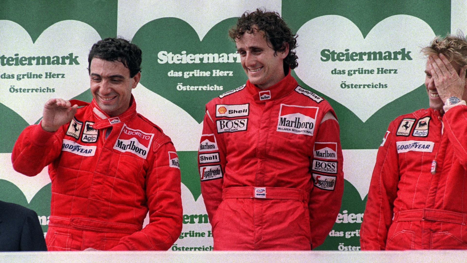 Michele Alboreto Alain Prost Formula One F1