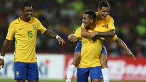 Paulinho Gabriel Jesus e Coutinho Brasil x Venezuela Eliminatórias 11 10 16