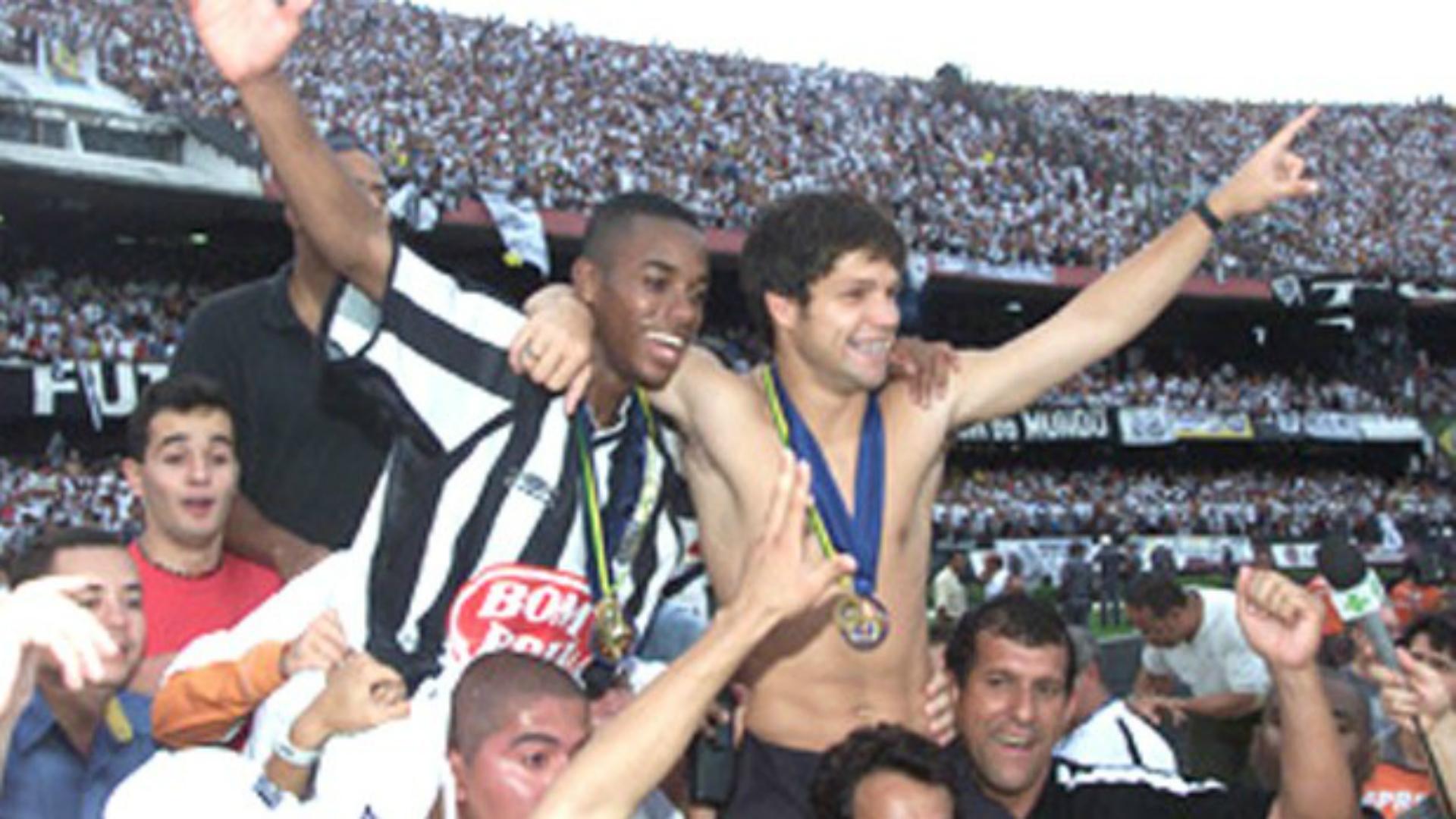 Diego e Robinho - Santos 2002