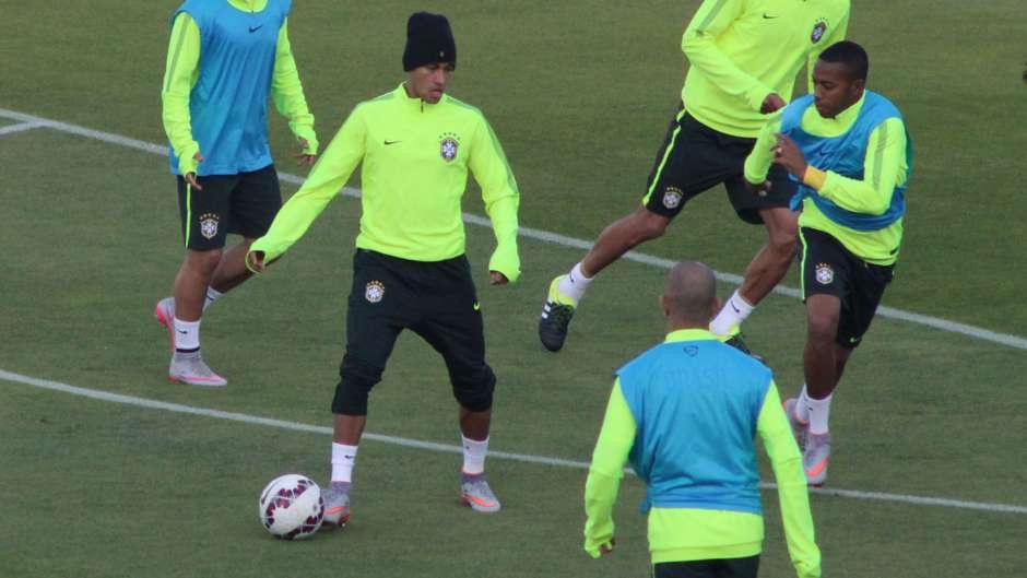 Neymar e Robinho Brasil Copa América 2015