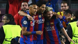 Neymar Suárez Messi MSN Barcelona x City Champions League 19 10 2016
