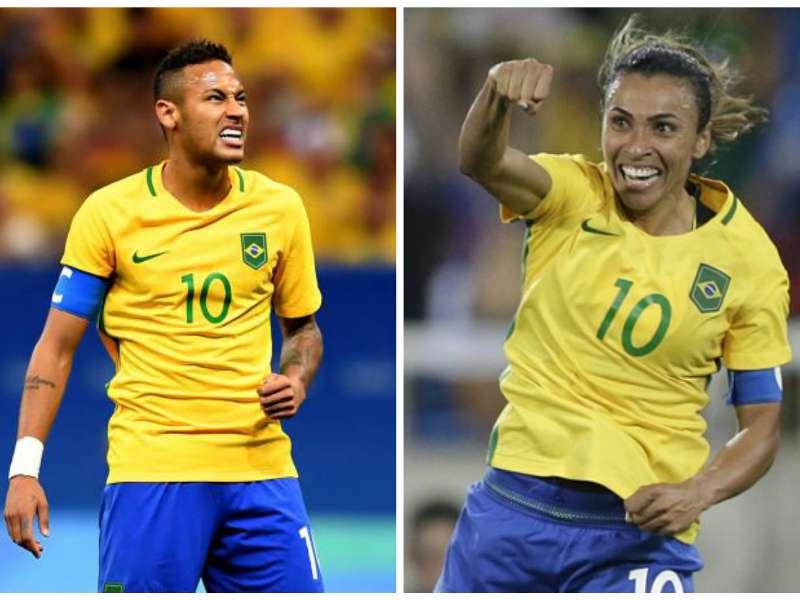 8231023fb00cf Coloca a Marta! Camisa 10 supera Neymar no futebol