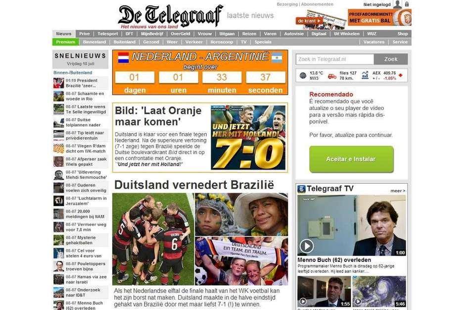 Capas 7 a 1 De Telegraaf Holanda