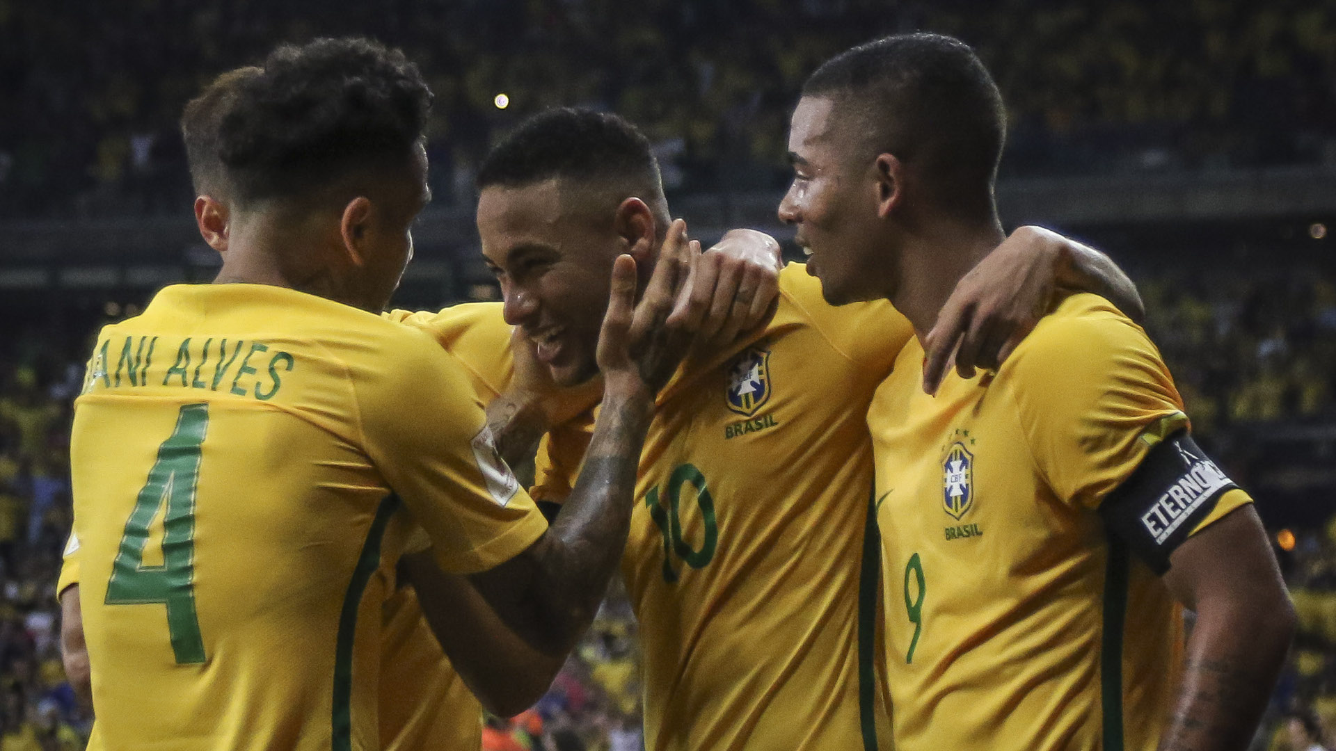 Neymar Gabriel Jesus Dani Alves Brasil Argentina Eliminatorias 2018 10112016