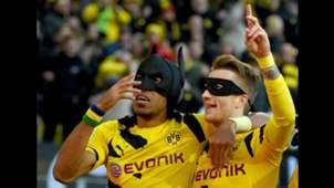Pierre-Emerick Aubameyang Marco Reus Borussia Dortmund Batman Mask